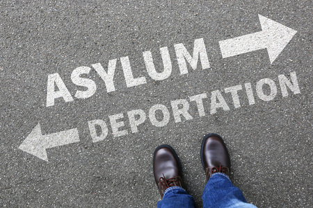 immigrants: Asylum deportation removal refugees refugee sanctuary immigrants illegal immigration concept