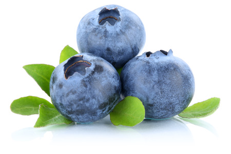 Blueberry blueberries berry berries fruit fruits isolated on a white background Foto de archivo