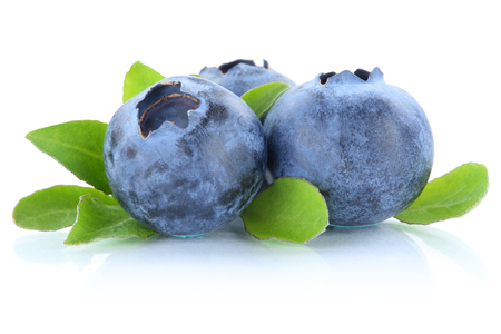 Blueberry blueberries berry berries isolated on a white background