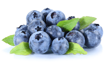 Blueberry blueberries fresh berry berries fruit isolated on a white background