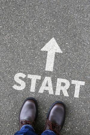 begin: Start starting begin beginning business concept career goals motivation vision