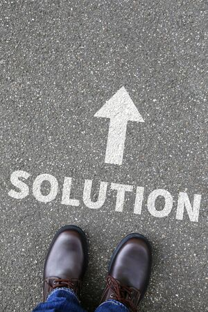 problems solutions: Business concept with solution for problem success successful