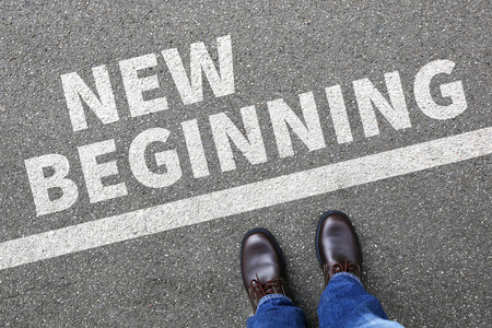 New beginning beginnings old life future past goals success decision change decide