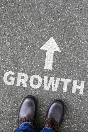 growing success: Business concept with growth growing success successful finances