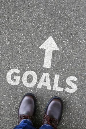 aspirational: Goal goals to success aspirations and growth targets business concept