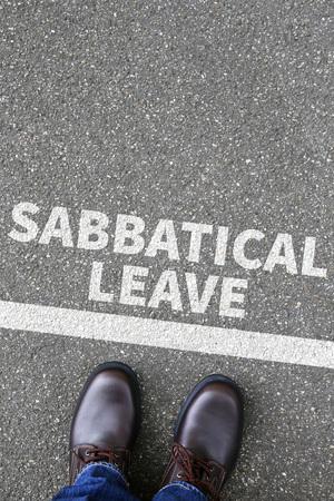 overworked: Sabbatical leave break sabbath job stress burnout business concept overworked