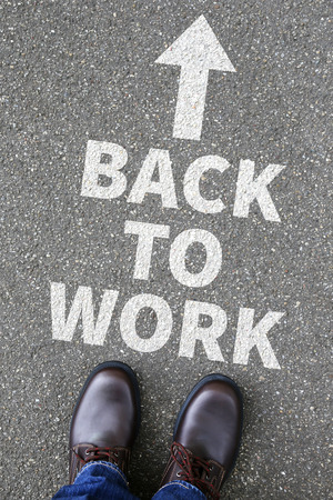 destress: Back to work working vacation holiday holidays business concept break