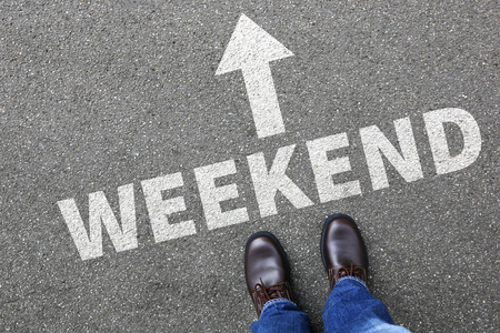 weekend break: Weekend relax relaxed break people business concept free time leisure