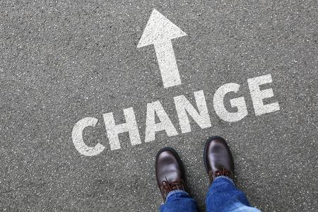 Changer changer la vie de travail de travail change concept vision Banque d'images