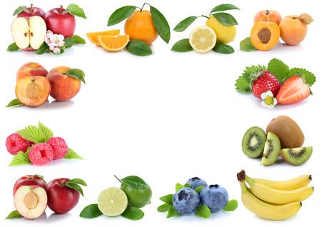 copyspace: Fruits fresh fruit apple orange frame with copyspace copy space