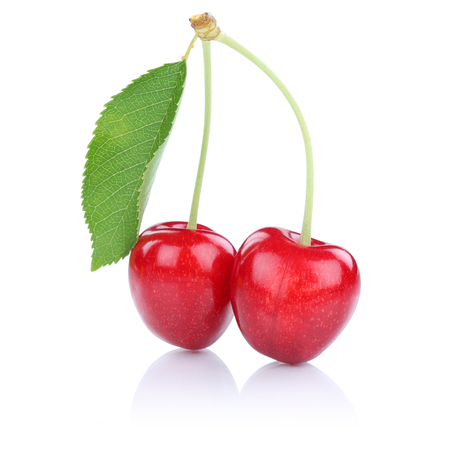 cherries isolated: Cherries cherry isolated on a white background