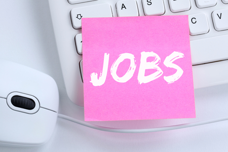 communication occupation: Jobs, job working recruitment employees business concept office computer keyboard