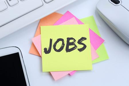 empleados trabajando: Jobs, job working recruitment employees business concept desk computer keyboard