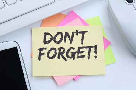 notepaper: Dont forget date meeting remind reminder notepaper business concept desk computer keyboard