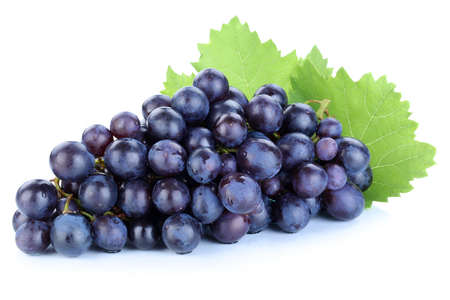 grapes blue fruits fruit isolated on a white background stock photo