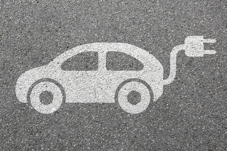 Electric car charging station vehicle street road traffic eco friendly mobility transportation