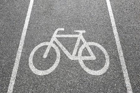bike lane: Bike lane path way cycle bicycle road traffic town city transport Stock Photo