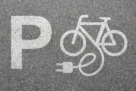 Parking lot sign E-Bike E Bike Ebike park electric bike electro bicycle eco friendly transport