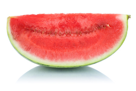 summer fruit: Watermelon slice fresh fruit summer isolated on a white background