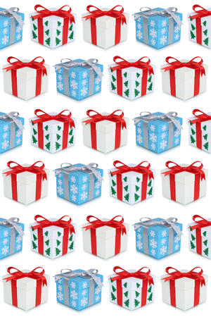 christmas present box: Christmas gifts gift box present presents background isolated
