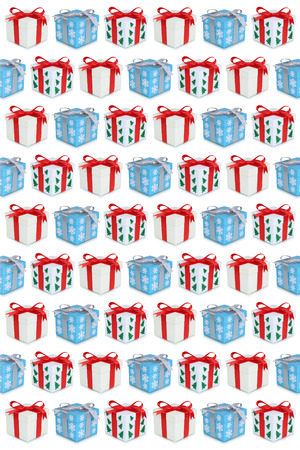 christmas present box: Christmas gifts gift box present background isolated Stock Photo