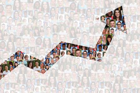 Succes business te verbeteren succesvolle groeistrategie mensen achtergrond