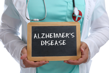 alzheimers: Alzheimers disease Alzheimer Alzheimers ill illness healthy health young doctor with sign