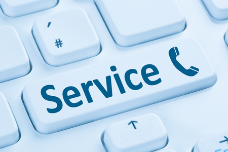 Calling Service Customer Hotline Telephone Symbol On Computer