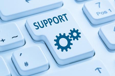 online service: Support customer service help online internet symbol blue computer keyboard