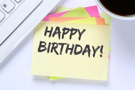 felicitaciones cumpleaÑos: Happy Birthday greetings celebration business desk computer keyboard