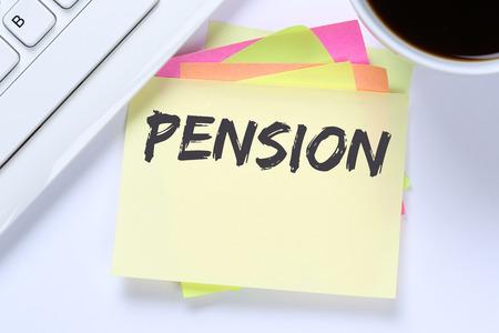 business funds: Pension retirement business concept desk computer internet keyboard