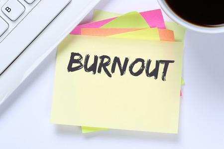 destress: Burnout ill illness stress stressed at work business desk computer keyboard