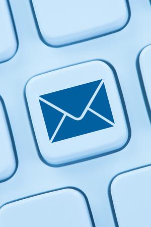 Sending E-Mail email letter internet online blue computer