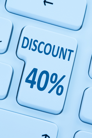 internet sale: 40% forty percent discount button coupon sale online shopping internet shop computer