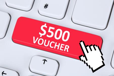 internet sale: 500 Dollar voucher gift discount sale online shopping internet shop computer