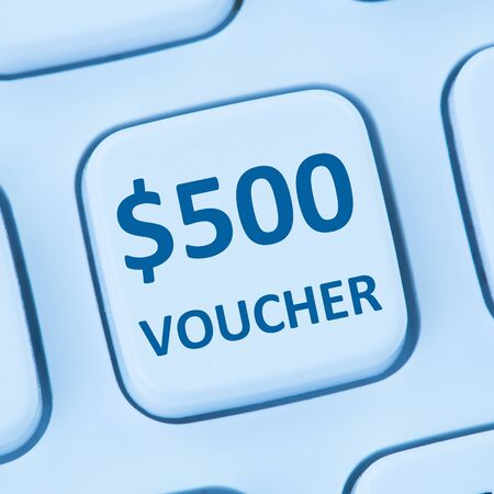 sale shop: 500 Dollar voucher gift discount sale online shopping internet store shop computer