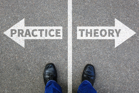 study: Theory and practice education profession learning success business concept successful