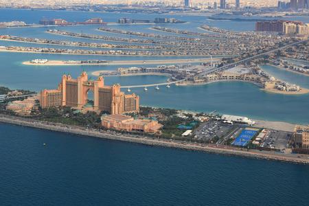 Dubai Atlantis Hotel The Palm Jumeirah Island vista aerea fotografia Emirati Arabi Uniti Archivio Fotografico - 80923969