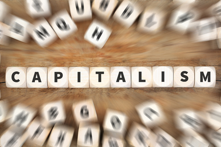 Capitalism politics financial money rich economy dice business concept idea