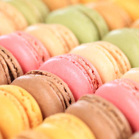 Macarons macaroons cookies square dessert from France French