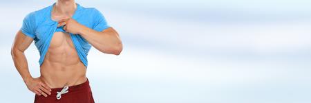 Abs abdominal muscles six pack copyspace bodybuilder bodybuilding copy space