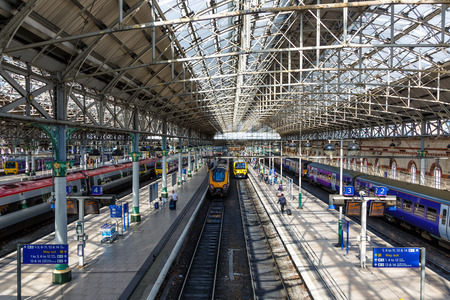 Manchester, Great Britain - August 15, 2017: Manchester Piccadilly Station in Great Britain Editorial