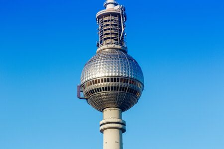 Berlin tv tower blue sky Alexanderplatz Germany city travel Editorial