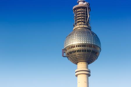 Berlin tv tower blue sky Alexanderplatz Germany copyspace city travel