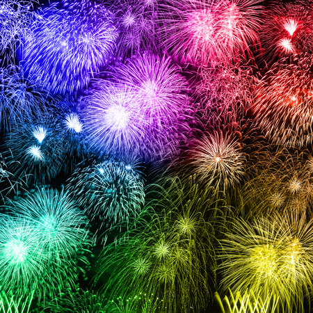 New Year's Eve fireworks background years year square colorful firework backgrounds