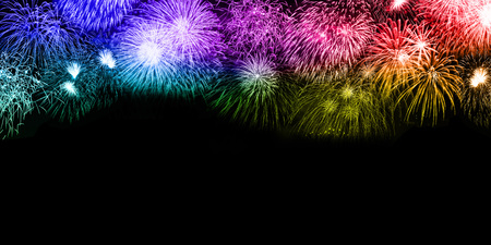 New Year's Eve fireworks background copyspace copy space colorful banner years year firework backgrounds