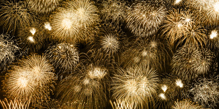 New Years Eve fireworks gold golden background banner years year firework backgrounds
