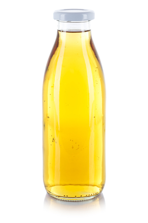 Apple juice drink bottle isolated on a white background