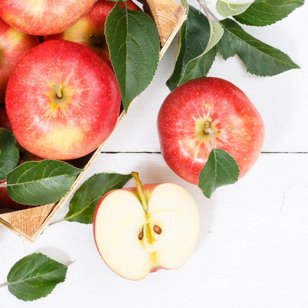 Apples apple fruits fruit from above square autumn fall box eating