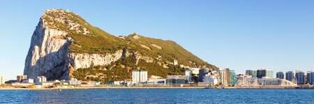 Gibraltar panorama landscape The Rock Mediterranean Sea overview travelling Stockfoto